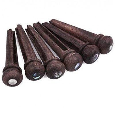 Set 6 Pin per Chitarra Acustica Palissandro con Dot
