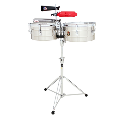 """Timbali Tito Puente Stainless Steel, 14""""/15"""",Latin Percussion,Latin Percussion"""