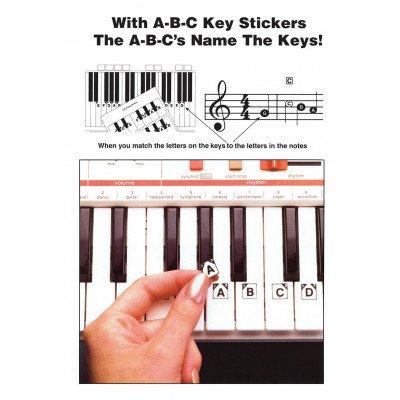 Adesivi ABC Keyboard Stickers per tastiere e pianoforti