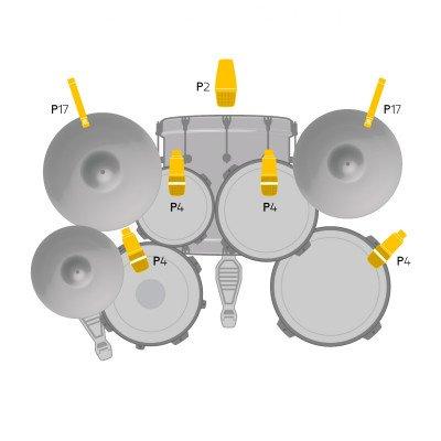 AKG Drum Set Session 1 - Kit Microfoni per Batteria