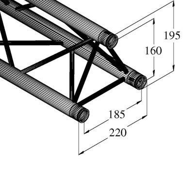 Decolock DQ3-2000 Traliccio 2 metri