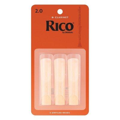 RICO Ancia per clarinetto Sib - Spessore 2 - Confezione da 3