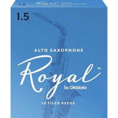 RICO Ance per Sax Alto - Spessore 1,5 - Serie Royal - Confezione 10 Pezzi