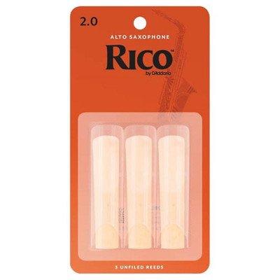 RICO Ancia per Sax Alto - Spessore 2 - Confezione da 3