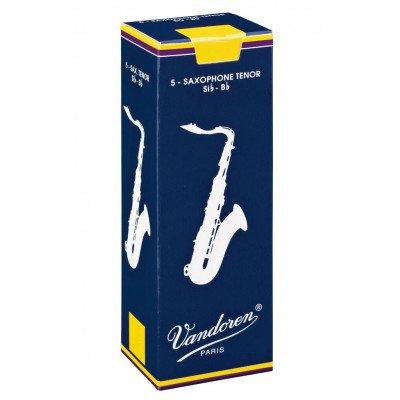 Vandoren Ance per Sax Tenore Si b, Traditional, Confezione da 5, Spessore 1.5