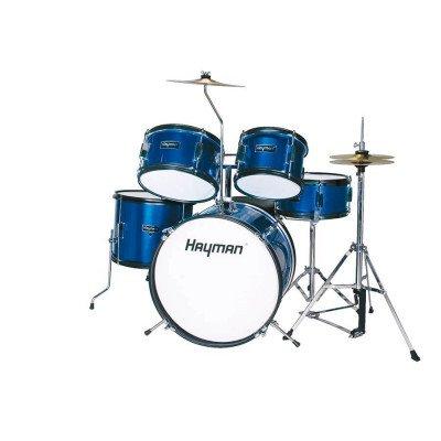 Batteria Acustica Junior 5 pezzi Blu