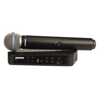 Radiomicrofono Shure BLX4+TRASMETTITORE A MANO BLX2/BETA58 M17
