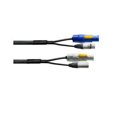 Cavo Combo Dmx Powercon 3 Metri