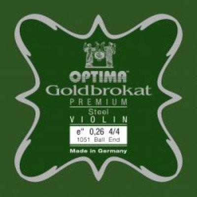 Corde per violino 4/4 Optima Mi Goldbrokat Premium X-hard Asola