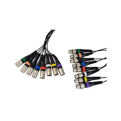 Cavo Frusta snake cable 8 XLR(F) 8  XLR(M) 15m