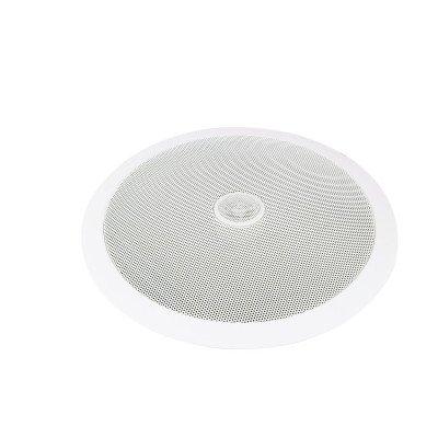 Omnitronic CST-8 Altoparlante 100V da Incasso, fino a 40 Watt, Bianco