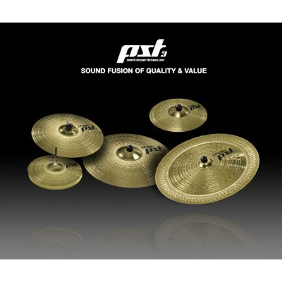 Paiste PST3 Universal Set HH14 + CR16 + RR20 + Crash Ride18 Omaggio