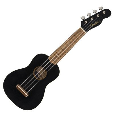 Ukulele Venice Soprano Uke, Walnut Fingerboard, Black