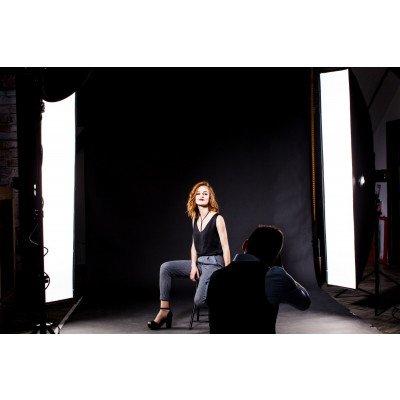 Atomic Pro Fondale fotografico professionale 3 x 3 m Nero