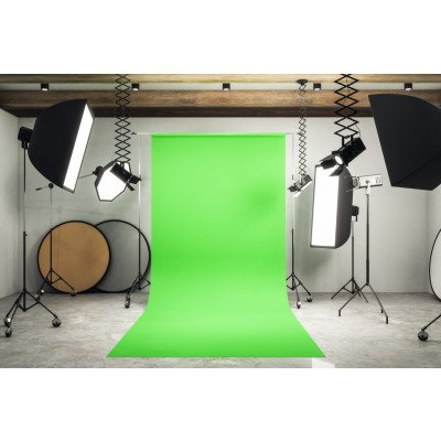 Atomic Pro Fondale fotografico Green Screen 3 x 9 m