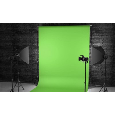 Atomic Pro Fondale fotografico Green Screen 3 x 4 m