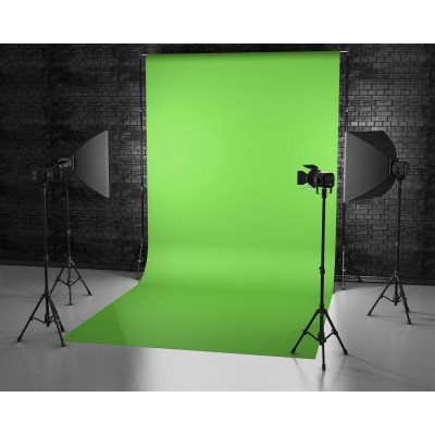 Atomic Pro Fondale fotografico Green Screen 3 x 5 m