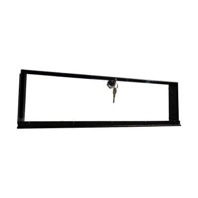 Frontale cassetto rack trasparente con chiave | 3 unità