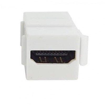 Adattatore Accoppiatore HDMI F - HDMI F 19PIN Dorato Bianco
