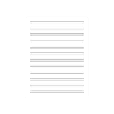 Carta Musica Quinterno 12 Righi