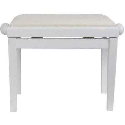 Panca per Pianoforte Bianco lucido Deluxe