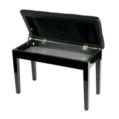 Panca per Pianoforte Nero Lucido