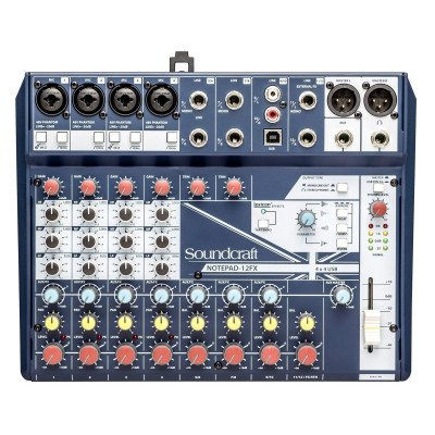 Mixer Soundcraft Notepad12FX USB con Scheda Audio 4-in/4-out