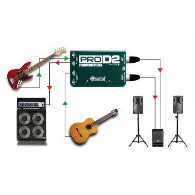 DI Box Radial Pro D2 Stereo Direct Box