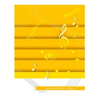 Quaderno Pentagrammato - 64 pagine - 12 Righi - A4 Carta bianca
