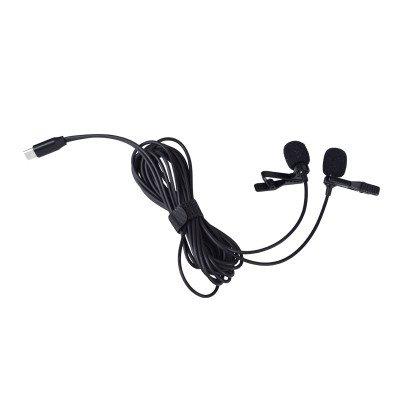 Renton MB02 DualMic microfono lavalier USB-C