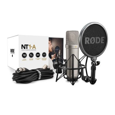 Rode NT1 A Set Microfono Completo - Con Supporto, Antipop e Cavo XLR