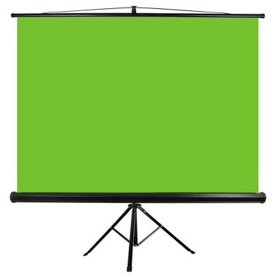 "Fondale  greenbox 100"" Con stand tripode 200X150 cm"